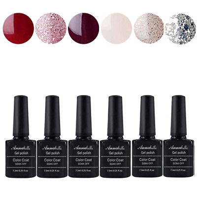 Annabelle Smalto Semipermanente Nail Polish UV LED Gel Unghie (Kit di 6 pcs 7.3M