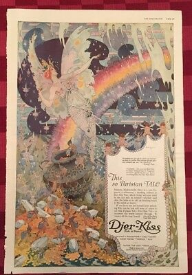 1920 Djer-Kiss Art Nouveau Magazine Advertisement