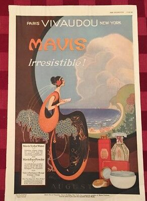 1920 Mavis Toilet Water Art Nouveau Magazine Advertisement