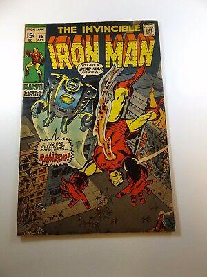 "Iron Man #36 VG- condition ""subscription crease"" Huge auction going on now!"