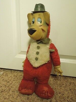 Vintage Hanna-Barbera Hucklleberry Hound Rubber Face & Hands Knickerbocker Doll