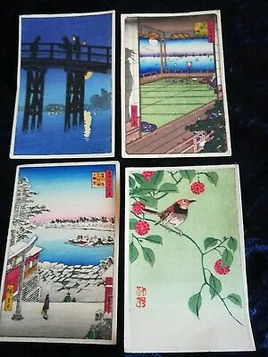 Japanese woodblock prints on paper