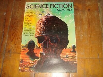 SCIENCE FICTION MONTHLY Vol. 1 #8   New English Library Tabloid 1974 FN