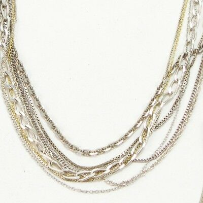 Sterling Silver - Lot of 10 Rope Link Chain Necklaces NOT SCRAP - 35g