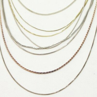 Sterling Silver - Lot of 10 Rope Link Chain Necklaces NOT SCRAP - 36g