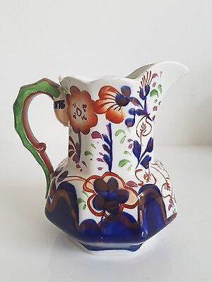Allertons Pottery Milk Jug Gaudy Welsh Style