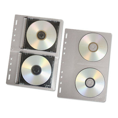 Fellowes CD/DVD Protector Sheets for Three-Ring Binder Clear 10/Pack 95304