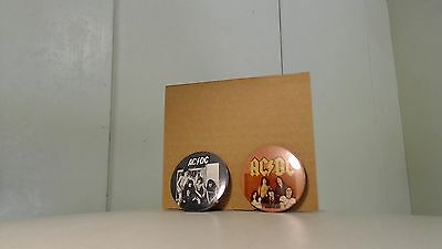 AC/DC button badge set of three Bon Scott era new!