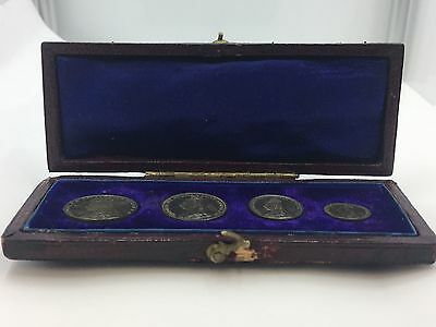 1892 Queen Victoria Jubilee Head 4 Coin Maundy Set #5797