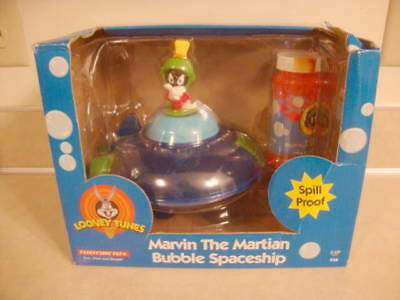 Looney Tunes 1999 Marvin the Martian Bubble Spaceship In Package a Tootsie Toy!