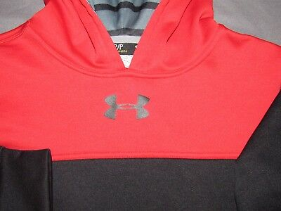 Boy's Under Armour Storm 100% Polyester Pull Over Hoodie Sweatshirt Youth Small