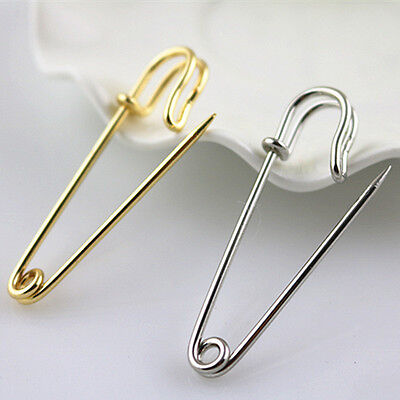 Kilt Pin Large Safety Pin Metal Brooch Pin Silver Color / Gold Color Long 50 MM