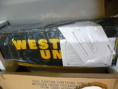 New-Western Union Double Sided Premiem Led Sign Aispremie- Free Shipping