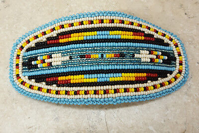 Beautiful Hand Crafted Beaded Feather Design Native American Indian Barrette