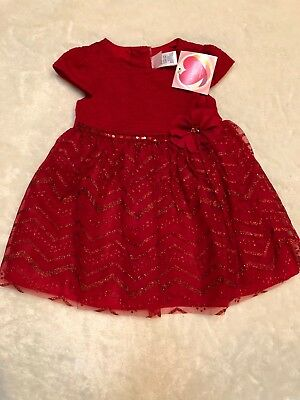 Girls Youngland Baby Red Dress Size 24 months NWT