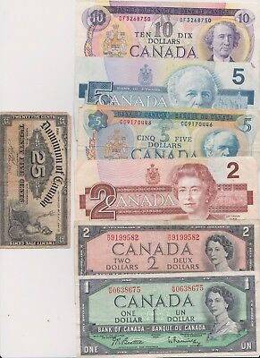 $25.25 face value Old Canadian Paper Currency 1900 DOMINION OF CANADA 25 Cent