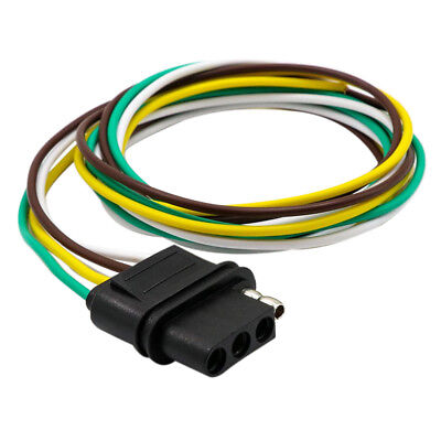 25FT 4 WAY Trailer Wiring Connection Kit Flat Wire Extension Harness How To Connect Wiring Harness Car on standalone ls harness, car radiator, car stereo wiring colors, car electrical, car wiring connectors, ford 5.0 fuel injection harness, car ecu, alpine stereo harness, 4 pin relay harness, kensun relay harness, car wiring guide, car radio harness, car fuse box, car safety harness, battery harness, body harness, car crankshaft, car starter harness, car wiring kit, construction harness,