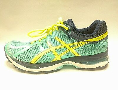 ASICS GEL-CUMULUS 17 WOMENS RUNNING SHOES SNEAKERS T5D9N SIZE 7.5 Aqua Yellow