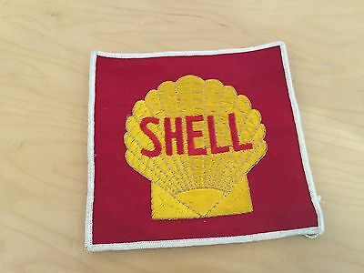 "shell   patch,60's,new old stock,  red backround, 5.5""x6"""""