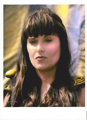 XENA 8.5 x 11 montage photo by ANNE C FERGUSON ~DIGITALLY ALTERED WHEN IN ROME 1