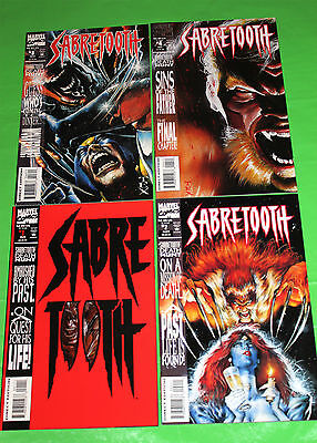 Sabretooth 1 2 3 4 VF+ NM Complete 4 issue mini-series - Wolverine Mystique
