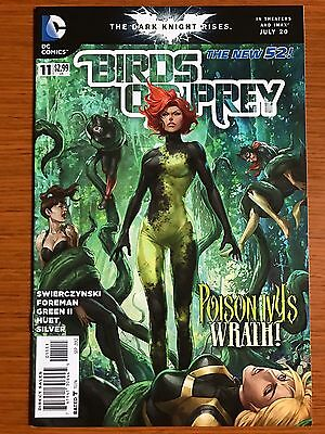 Birds of Prey #11 (vol. 3) 1st Print ARTGERM Cover DC POISON IVY BATGIRL VF/NM