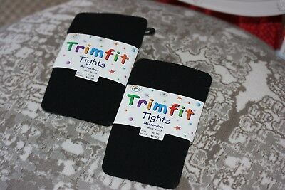 Trimfit Tights New Package of Black Tights Girl's Size 8-10 (2 pairs)