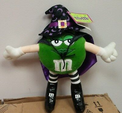 "M&M's GREEN WITCH Fall Halloween toy collectible plush 10"" tall NWT"