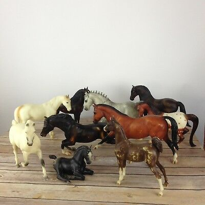 Breyer Horse Lot Of 10 Brown Black White Gray Mixed Lot