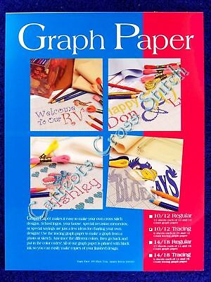 Tracing Graph Paper 10 & 12 Count Cross Stitch Knitting Needlepoint 18 Sheets