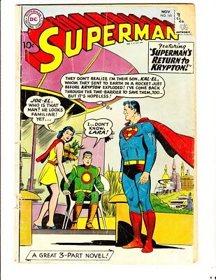 Superman 141 (1960): FREE to combine- in Fair+  condition