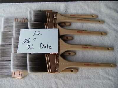 "Purdy paint brush lot of 12  XL Dale 2.5""  brushes.  No covers.  Angled bristles"