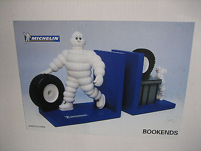 Michelin Man Bibendum & Dog Book Ends
