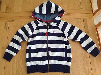 Gorgeous Girls or Boys Joules Navy Blue + White Stripped Hoodie Age 7