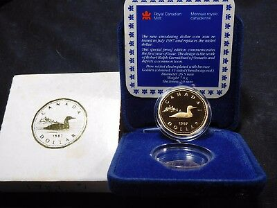 INV #W27 Canada 1987 Dollar Proof W/ COA & Box