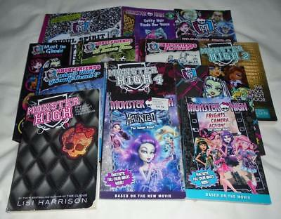 HUGE set of 13 Monster High chapter books by Lisi Harrison+