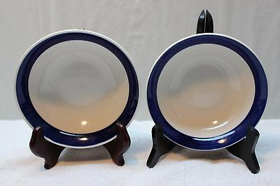 Set of 2 Totally Today Dinnerware Soup/Salad Bowls Thick Dark Blue Band & SET Of 3 Blue And White Totally Today Cereal Soup Salad Bowls | PicClick