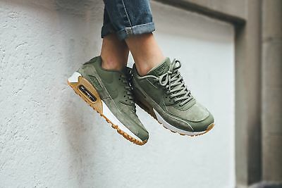 promo code cc640 6c62b NIKE WMNS AIR MAX 90 SE Oil Green Size 5 6 7 9 Women's Shoes 881105-300
