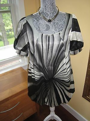NWT Heidi Klum Super Chic by Jordache Silky Lined Blouse Top - Small