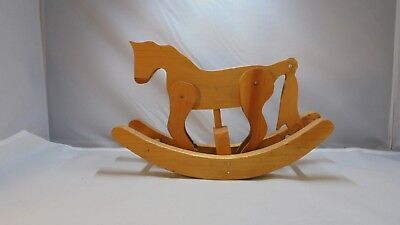 Vintage Dated Miniature Wooden Rocking Horse makes galloping Sounds when rocking