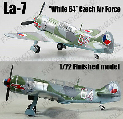 WWII La-7 white 64 Czech Air Force 1/72 finished plane Easy model
