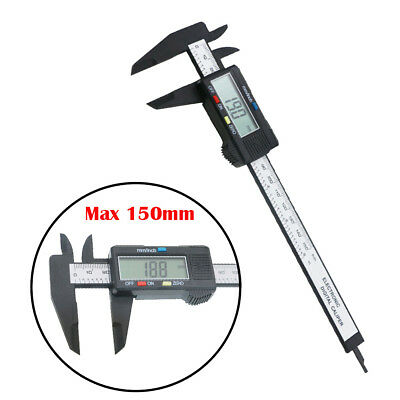 LCD Digital Vernier Caliper Gauge Micrometer Tool Electronic Display 6''150mm