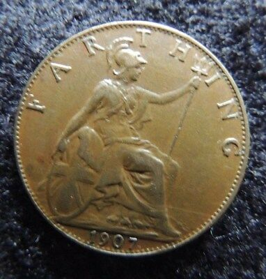 GREAT  BRITIAN      1907      Farthing       NICE             Think  CHRISTMAS
