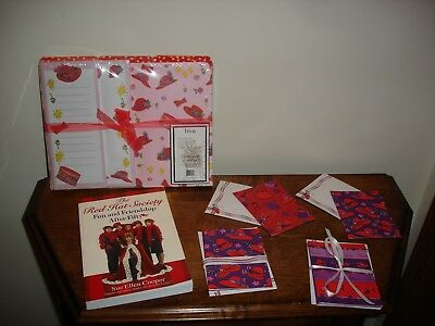 Red Hat Society Stationery and FUN AND FRIENDSHIP AFTER FIFTY book by Sue Ellen