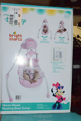 Disney Baby Minnie Mouse Blushing Bows Swing From Bright Starts