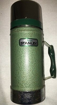 Vtg Stanley Metal Thermos 'Aladdin' 24 OZ Wide Mouth A 1350-B Cup & Stopper Incl