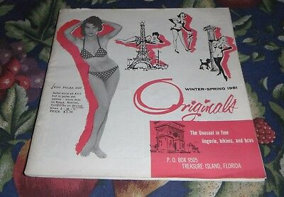 VTG 1960s ORIGINALS INC LINGERIE CATALOG ~ EXC CONDITION