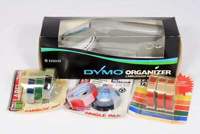 Vintage DYMO Organizer 1610 Label Maker 1/4 with Extra Rolls of Label Tape