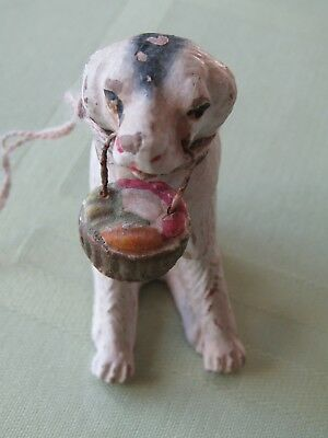 Antique Vintage Feather Tree Christmas Ornament - Hunting Dog Germany