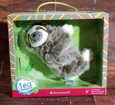 "New American Girl Lea Clark Three-Toed Sloth Plush Pet Animal for 18"" doll"